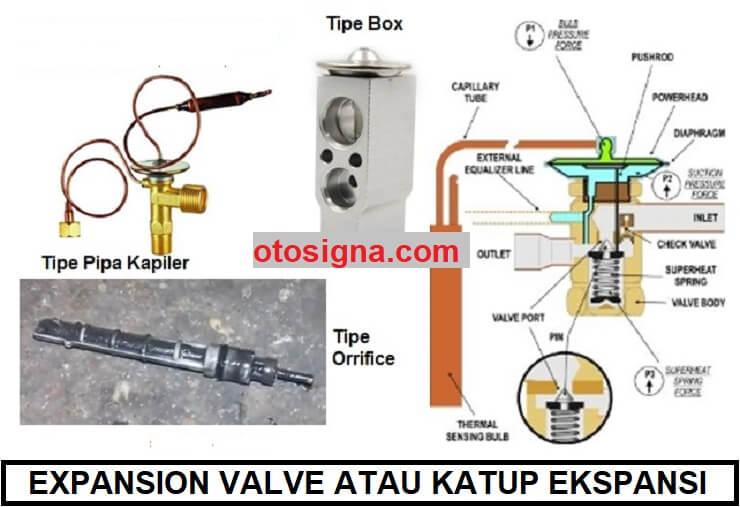 expansion valve atau katup ekspansi