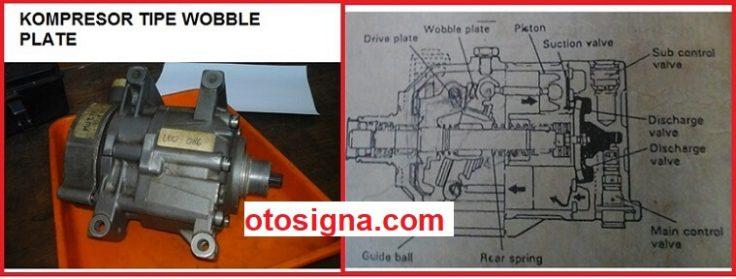 kompresor ac mobil tipe wobble plate